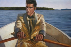 "Markku Laakso: ""Elvis rows"", 2009, Öl auf Leinwand"