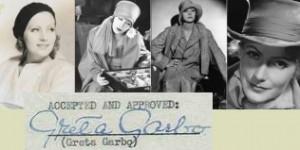Signatur der Garbo