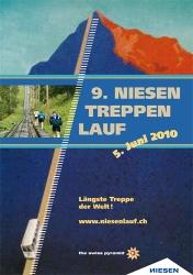 Plakat für den 9. Niesen Treppenlauf