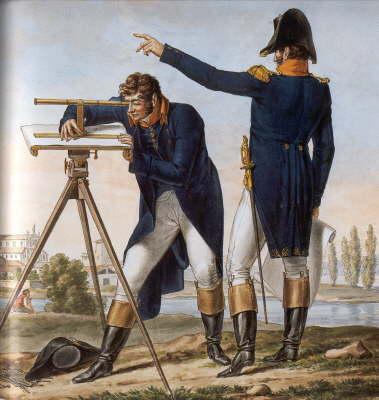 Bild ... Ingenieurgeographen bei der Messtischaufnahme