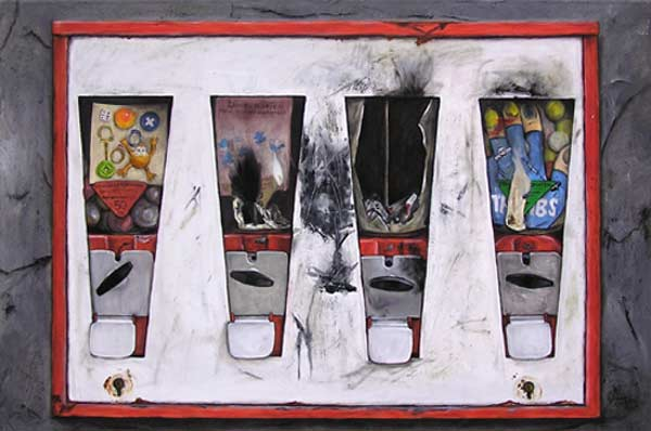Marlies Glase ... Kaugummiautomat ... Oel auf Leinwand