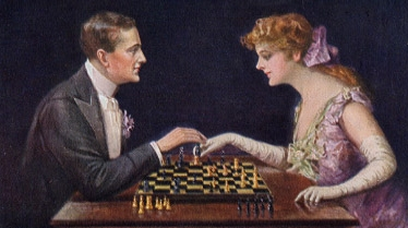 Ein Paar beim Schach (1916)