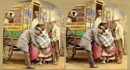 Koloriertes Stereophoto um 1860 ... (c) stereoskopie.com